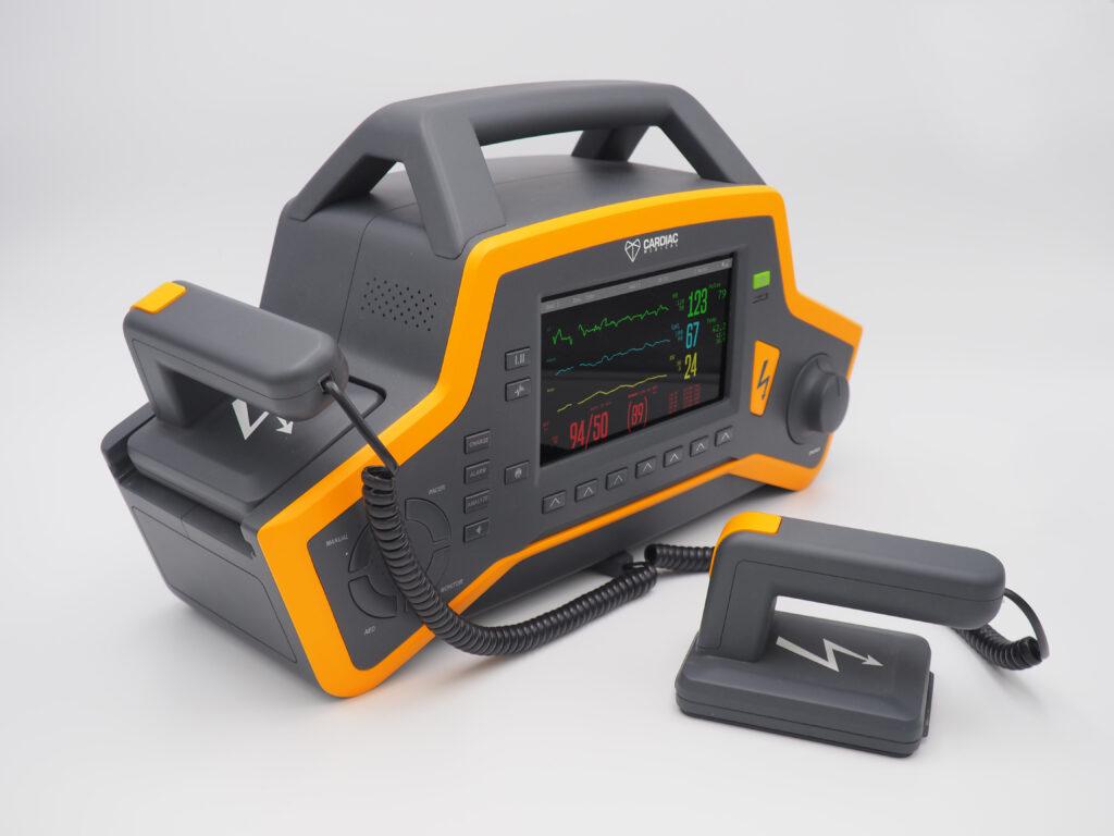 Desfibrilador portátil para equipos móviles y de rescate